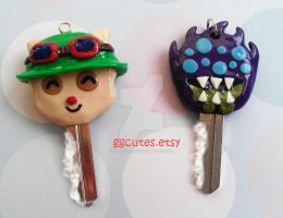 Teemo and Baron Nashor keys by ambivalenc3