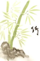 Water colour Bamboo by KellyGirl1