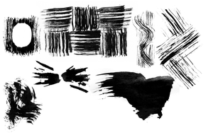 ink traces brushes by alamic-marius