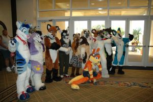 Fursuit Group at AFO 2008 by Frosttail
