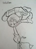 Flagpole Mario by selairy