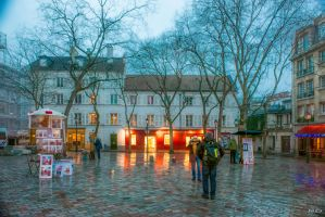 December in Montmartre by Rikitza