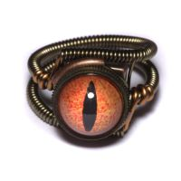 Steampunk Ring Dragon Eye by CatherinetteRings