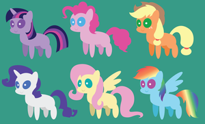 Mini Ponies: Mane Six by AleximusPrime
