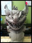 Evil Realistic Stitch Sculpture Bust WIP by Frazzy626