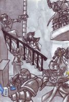 Warhammer Defend the Staircase by Raax-theIceWarrior