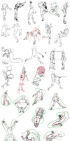 30 Poses by NocturnaDraco