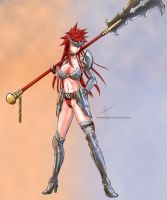 Female warrior by forsakenlight77
