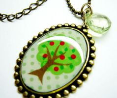 Apple Tree Necklace by luminarydreams