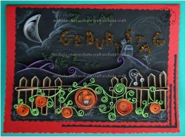 Quilling - Card20:Halloween by Eti-chan