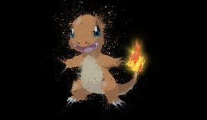 Paint Drip Charmander Glowing Tail by ImpersonatingPanda