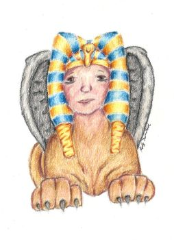 Egyptian Sphinx by Trickster91