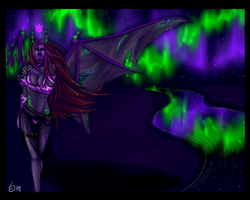 Lady Adamira of the Nightfall by FelDruidSareena