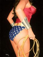 old Wonder Woman painting by SexualMustard