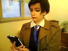 Supernatural- Female!Castiel Cosplay (4) by Artieukchan