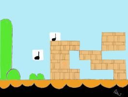 Mario Background Color by Alessaismyidol