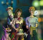 Riot in a bar by Fonora