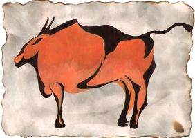 Cave bison by dfmurcia