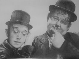Laurel and hardy by WJLACEY