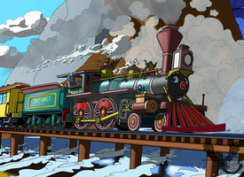 RailWolf loco by Joel-Swedish-Dragon
