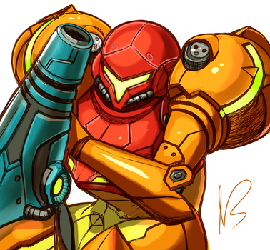 Samus Returns by hybridmink