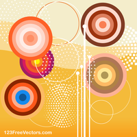 Retro Colorful Background Graphics by 123freevectors