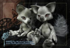 Best of Friends - Wolves BJD by TheMushroomPeddler