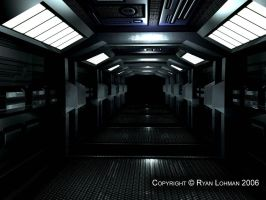Military Spacestation: Hallway by KnuxTE