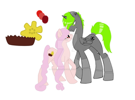 .:. MLP: Cyber and Buttercup Breedable .:. by BurnedYellowRoses
