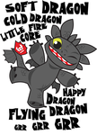 Soft Dragon Toothless by Kuitsuku