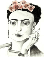 Frida Kahlo by AIDSclown