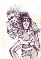 Lydia and Beetlejuice by deathxsurvey
