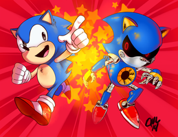 vs metal sonic by sir-grimmington
