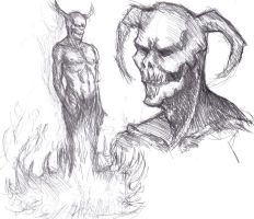 Demon Sketch by Vimes-DA