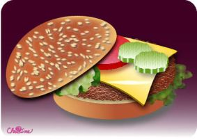 Yummy Hamburger by christinee