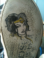Wonder Woman under the shoes by JHBU
