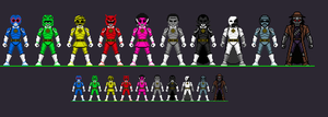 Universal Monster Power Rangers by CosbyDaf