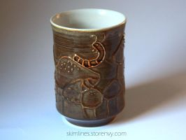 Caterpillar Tea Cup by skimlines