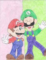 The Mario Bros. by LeftyGreenMario