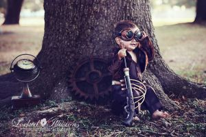 Steampunk baby by LockedIllusions