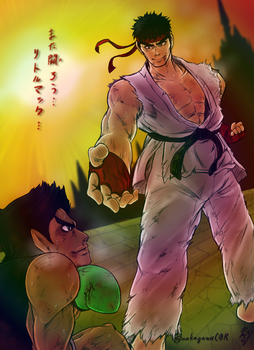 Ryu VS Little mac by doctorWalui