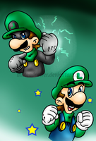 green thunder-green mario by Nintendrawer