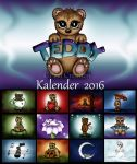 Teddy Calendar 2016 by PeziCreation