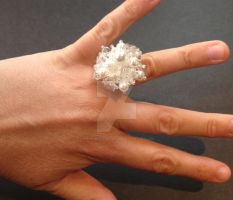 Cluster Flower Ring - White by WhiteMagicPriestess