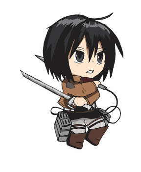 Attack On Titan - Mikasa by CandyAddict774