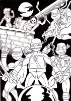 TMNT by MBrazee