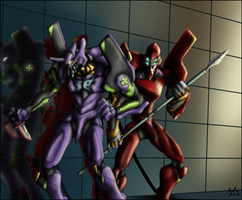Eva 01 and 02 by Beta-Klik