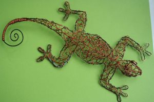 Wire gecko by Stekhauzer