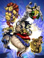 Jumbo sized Justice League by Knightmare10880