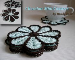 Chocolate Mint Coasters by amarilliss